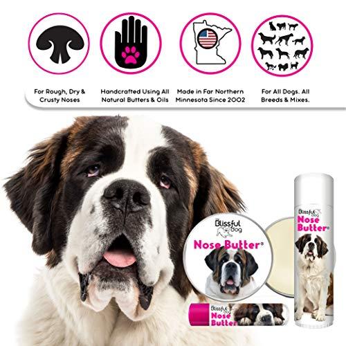 The Blissful Dog St. Bernard Unscented Nose Butter - Dog Nose Butter, 8 Ounce