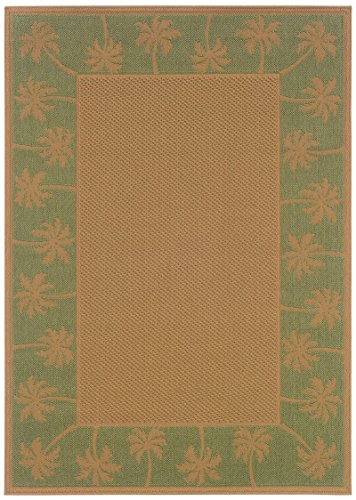 Sphinx by Oriental Weavers Lanai 1.67 x 3.58 Casual Rug - Beige and Green