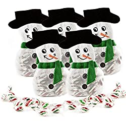 8 Pack Candy Stocking Stuffers, Great Gift for Tree Ornaments Contains Approx. 12 Delicious Mint Christmas Candies, Holiday Candy Gifts - Oh! Nuts (Snowman)