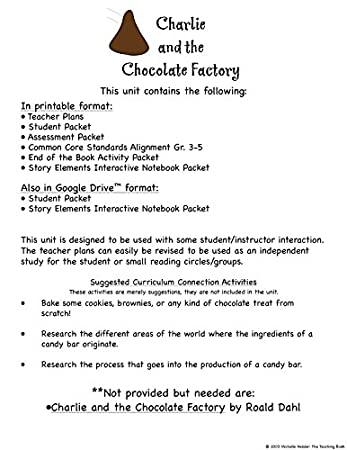 Math Worksheets free printable math worksheets 5th grade : Amazon.com : Charlie and the Chocolate Factory Novel Study Unit CD ...