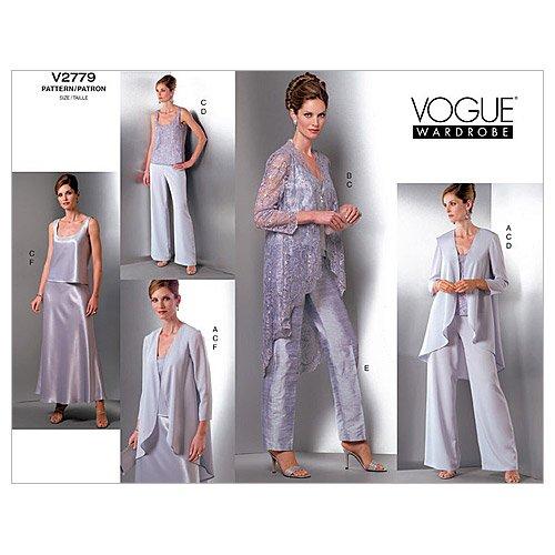 UPC 031664374428, Vogue Patterns V2779 Misses'/Misses' Petite Jacket, Top, Pants and Skirt, Size 14-16-18