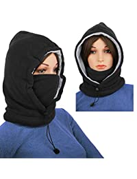 Ski Face Mask Women Balaclava Fleece Hood Winter Face Mask Head Warmer Face Warmer