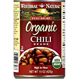 Westbrae Foods, Organic Beans; Fat Free Chili, Pack of 12, Size - 15 OZ, Quantity - 1 Case