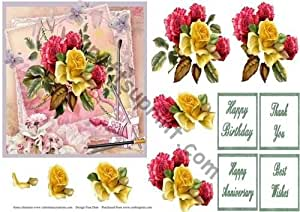 Pintado de rosas por Frances Dent