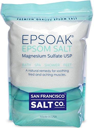 Epsoak Epsom Salt Magnesium Sulfate USP, 5lbs Bulk Bag