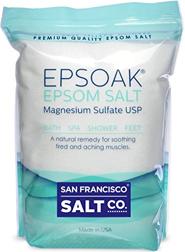 Epsoak Epsom Salt (Magnesium Sulfate USP) with Resealable Bag, 10 Pound