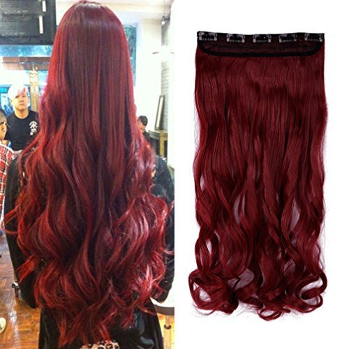 5 Minute Diy Halloween Costumes (SGH 5 Clips 24 Inches Curly Hair Extensions Clip-in (Maroon Mix Dark Red,140G))