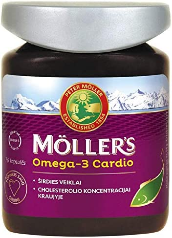 [Gesponsert]Möller's Omega-3 Cardio 76 Capsules Premium Quality Fish Oil, High Concentration of: DHA, EPA and ALA for Heart...