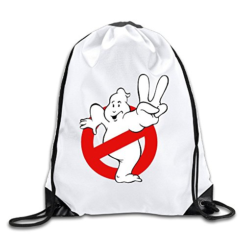 Eden Tote Bags - Ghostbusters Logo Lightweight Drawstring Tote Canvas Backpack White Size One Size
