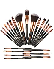 MAANGE Pinceles de Maquillaje 22 Piezas Profesional Kabuki Brochas de Maquillaje Sintetica Premium Suaves y Firmes Cosméticos Cepillos Kit ( Negro)