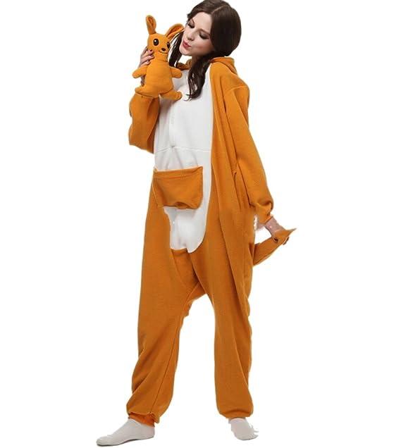 Fandecie Pijama Canguro, Onesie Modelo Animales para adulto entre 1,60 y 1,75 m Kugurumi Unisex.: Amazon.es: Ropa y accesorios