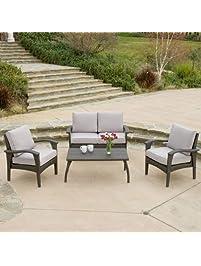 Voyage Outdoor 4pc Grey Sofa Set