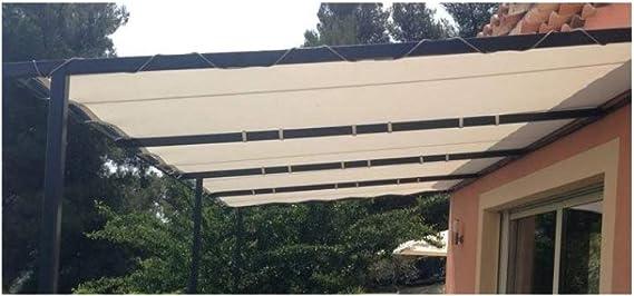 Bâche speciale pergola et tonnelle 4.10 x 3.10 m IVOIRE Haute protection UV avec Oeillets: Amazon.es: Bricolaje y herramientas
