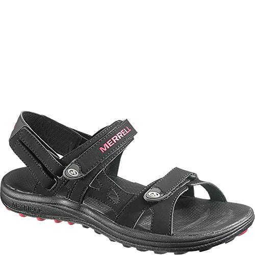 - Merrell Cedrus Convertible Womens Black/Rose Red Sandals 8M