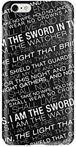 Stylizedd Apple iPhone 6Plus Premium Slim Snap case cover Matte Finish - GOT Night's Watcher Oath
