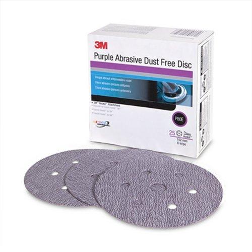 3M 30785 Purple 6'' 60E Grit Dust-Free Abrasive Disc (Pack of 4)