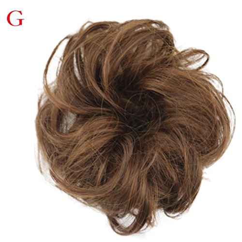 G Costume Unit (Iuhan Curly Messy Bun Hair Twirl Piece Women's Scrunchie Wigs Extensions Hairdressing)
