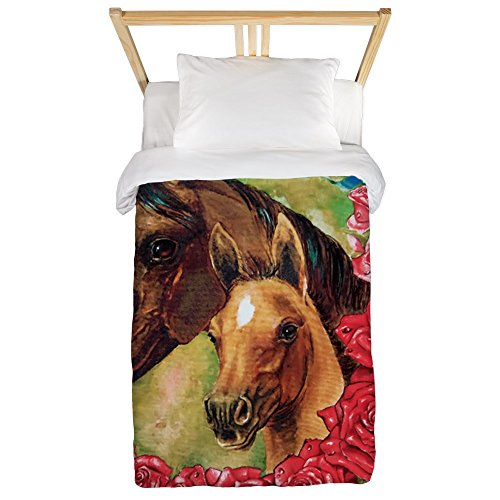 Twin Duvet Cover Horses and Roses by Royal Lion
