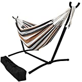 OceanTailer Hammock with Stand, Portable Hammock Bed for Indoor or Outdoor Use, with Carrying Pouch, Max Weight: 400 Pounds – Desert Colors Brazilian 10-12.5 foot