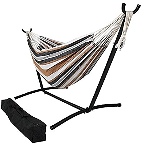 hammock with stand 2 person portable hammock bed for indoor or outdoor use amazon     hammock with stand 2 person portable hammock bed      rh   amazon