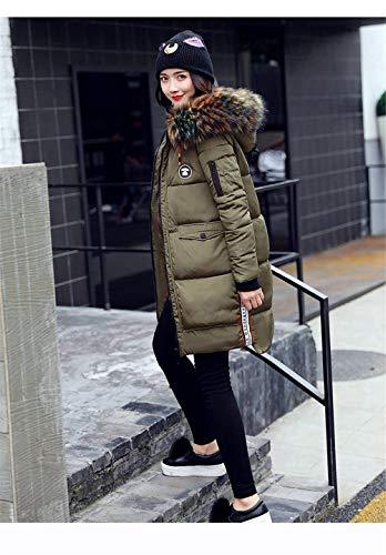 Femme Longues Coat El Hiver Jacken BIRAN Manteau Doudoune Oqx7vwW1