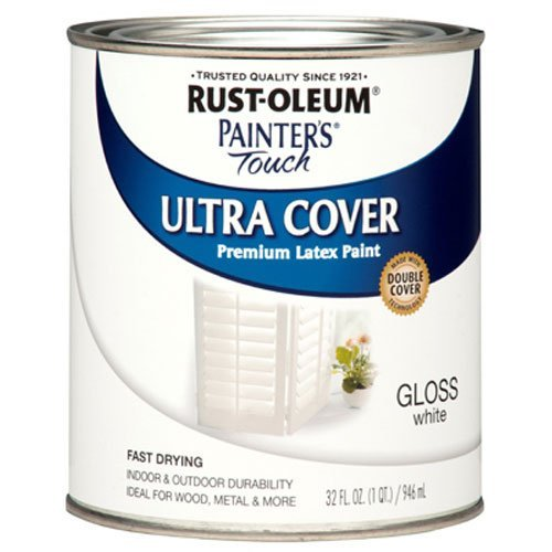 Rust-Oleum 1992502 Painters Touch Latex, 1-Quart, Gloss White