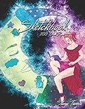 Sketchbook 200 Black Pages: Fairy Sketch Book
