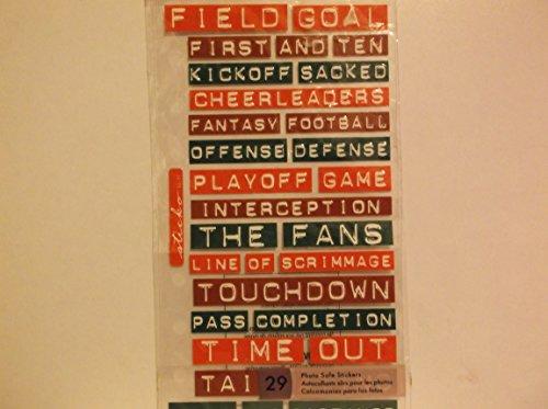 - Sticko Stickers - Label Lingo American Football Phrases