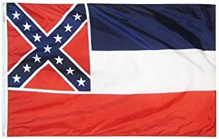 product image for All Star Flags 3x5' Mississippi Heavy Weight Nylon Flag from