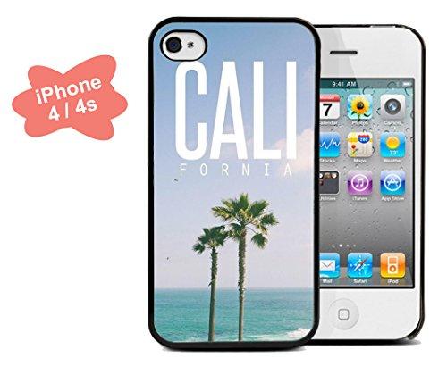 Coque silicone BUMPER souple IPHONE 4/4s - California californie motif 3 DESIGN case+ Film de protection OFFERT