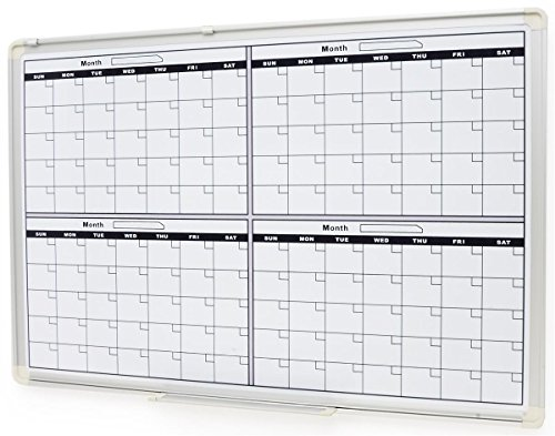 Dry Erase Calendar Template : Displays go dry erase whiteboard for wall mount use with