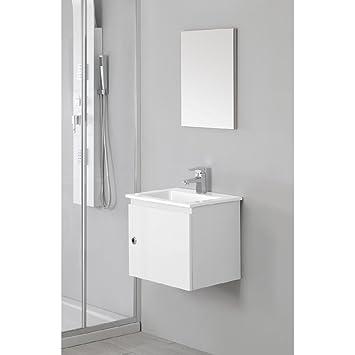 Amazon.de: Mobile lavabo con specchio per bagno colore bianco ...