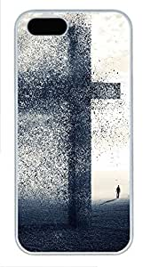 iPhone 5 5S Case A cross being blow away PC Custom iPhone 5 5S Case Cover White