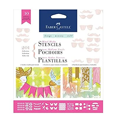 Faber Castell Design Memory Craft Mixed Media Paper Stencils- Doodle