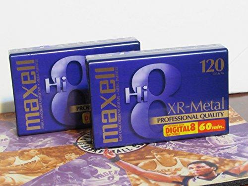 Maxell Hi-8 Tape XR Metal 120 min 8 mm (2-Pack)
