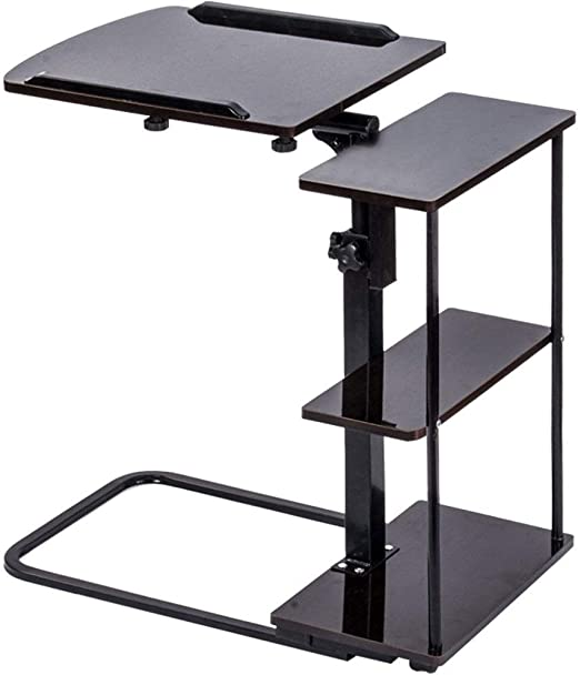XUE-stand cart Mesa para Cama con Cama Ajustable con Ruedas Altura ...