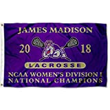 College Flags and Banners Co.. James Madison Dukes Womens Lacrosse 2018 National Champions Flag