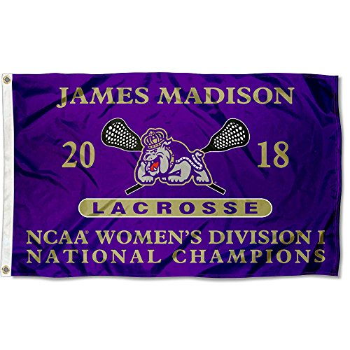 College Flags and Banners Co.. James Madison Dukes Womens Lacrosse 2018 National Champions Flag by College Flags and Banners Co.