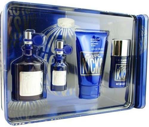 Curve Kicks By Liz Claiborne For Men. Set-cologne Spray 4.2 OZ & Cologne Spray .5 OZ & Deodorant Stick 2.6 OZ & Skin Soother 4.2 OZ