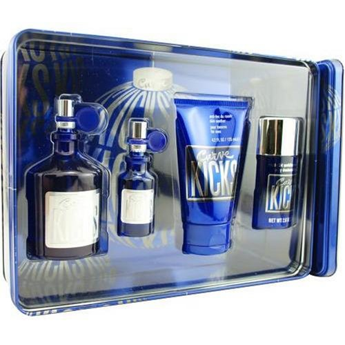 Curve Kicks By Liz Claiborne For Men. Set-cologne Spray 4.2 OZ & Cologne Spray .5 OZ & Deodorant Stick 2.6 OZ & Skin Soother 4.2 OZ