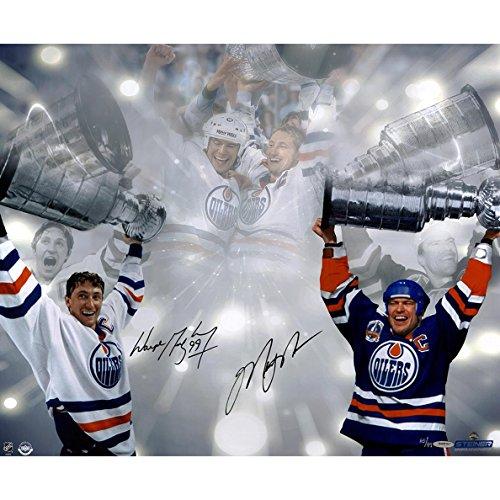 NHL Edmonton Oilers Wayne Gretzky/Mark Messier Dual Signed Stanley Cup 16x24 Photo