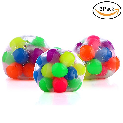 DNA Stress Relief Ball - 3 Pack- Squeezing Balls- Sensory Stress Balls For Kids & Adults- Ideal Sensory Toy for Autism, Anxiety, ADHD & More Photo #5