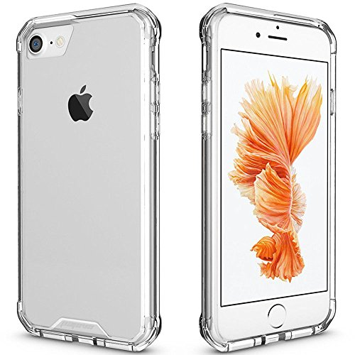 iPhone 7 Case Clear, iPhone 8 Case, Pajuva PC+TPU Transparent Case Thin for iPhone 7/8 Crystal Clear Case with Bumper (Clear)