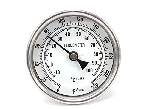 CONCORD 3'' Stainless Steel Thermometer for Home Brewing (2'' Stem) by Concord (Image #3)