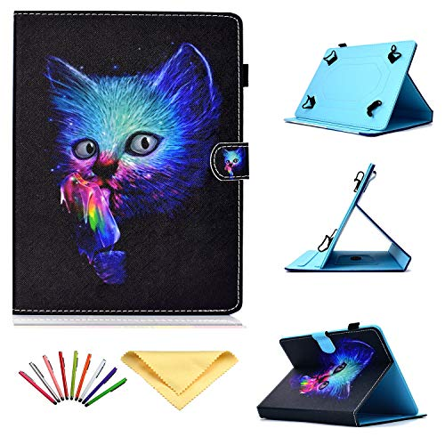 Uliking Universal Case for 7 inch Tablets, Folio Stand Cover with Pencil Card Holder for 6.8