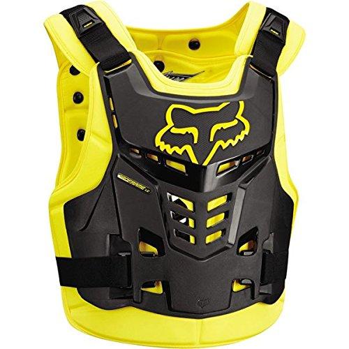 Fox Racing Proframe LC Roost Deflector-Black/Yellow-L/XL