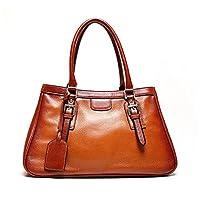 Kattee Vintage Italian Leather Large Tote Shoulder Bag