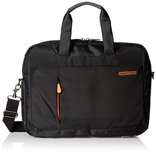 American Tourister Activair Polyester 13 Ltrs Black Laptopp Bag (56T (0) 09 008)