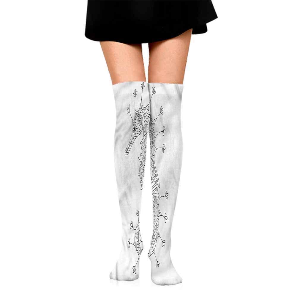 Shiny Socks Short Summer Thin Animal,Seahorse Heraldic Art,socks for men under armour