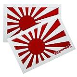 jdm stickers honda prelude - 2Pc Rising Sun Japan/Japanese Flag Vinyl Jdm Sticker Decal Stickerbomb Bomb for Honda Prelude